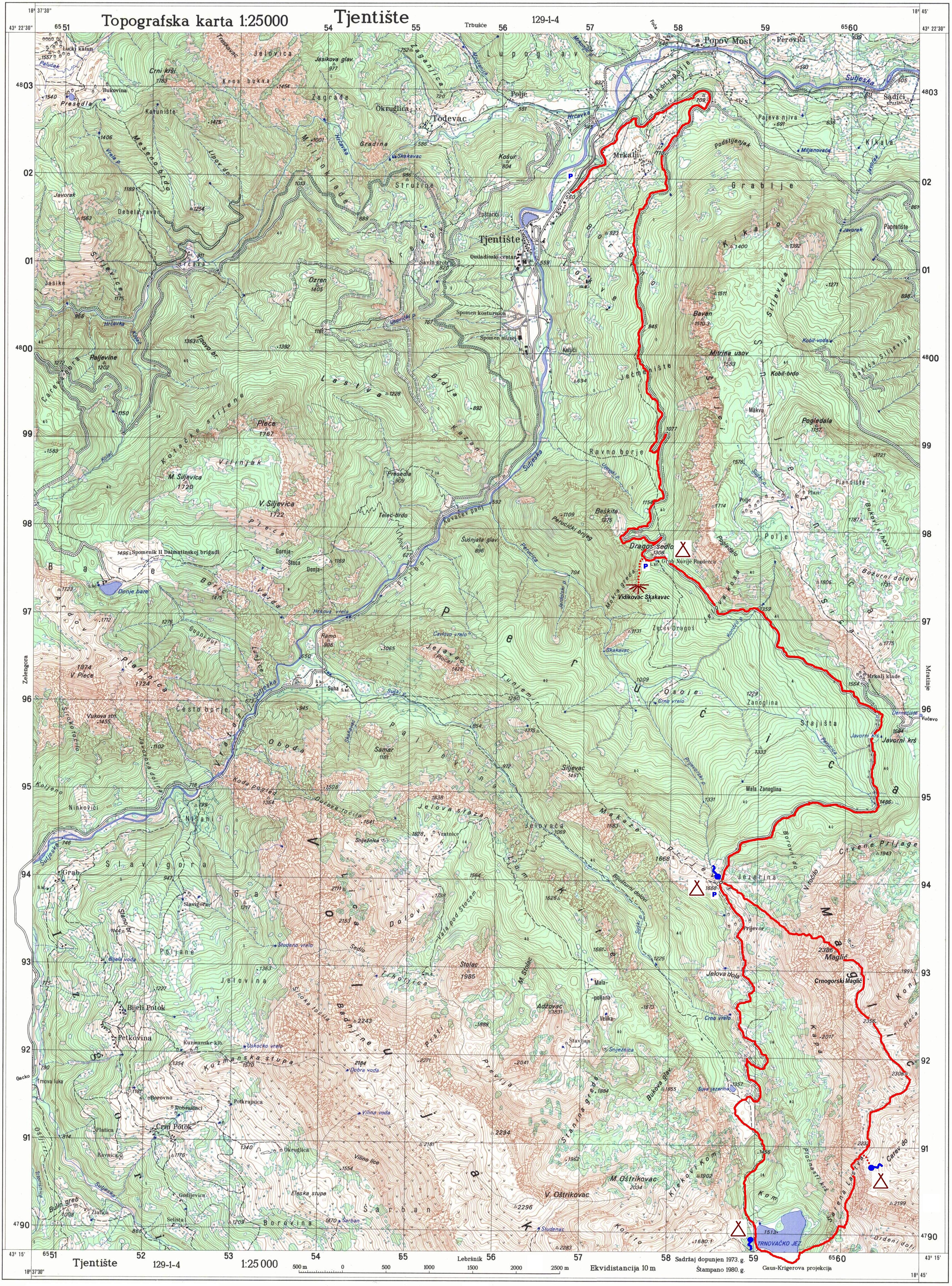 topografska karta srbije 25000 Karte   besplatne online   DINARSKO GORJE topografska karta srbije 25000